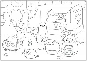 Coloring page doodle art free to color for children