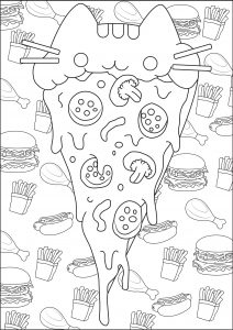 Coloring page doodle art for kids