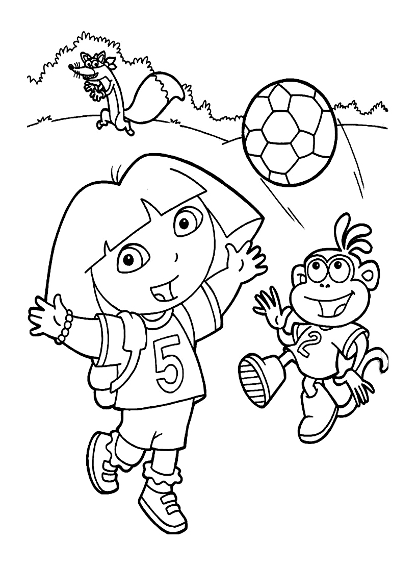 Dora the explorer to color for children - Dora The Explorer Kids ...