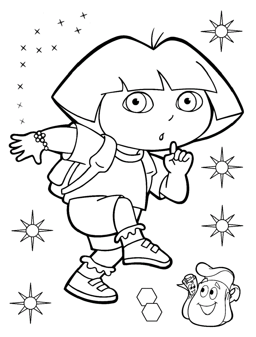 Dora The Explorer Coloring Page To Download