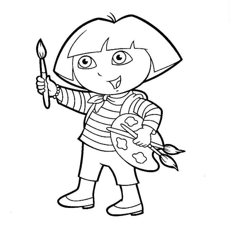 Free Dora The Explorer Coloring Page To Download For Children