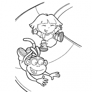 Coloring page dora the explorer free to color for kids