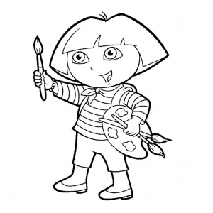 Coloring page dora the explorer to print for free