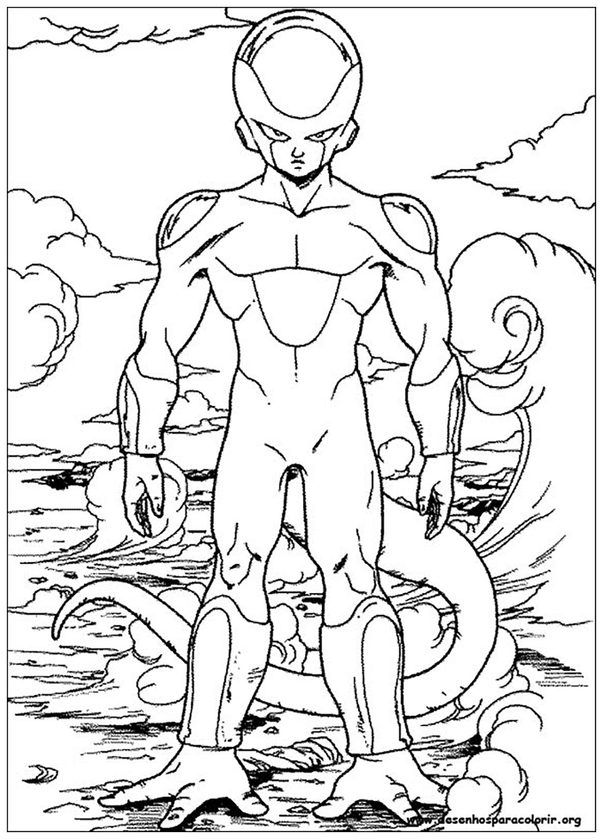 Freezer - Dragon Ball Z Kids Coloring Pages
