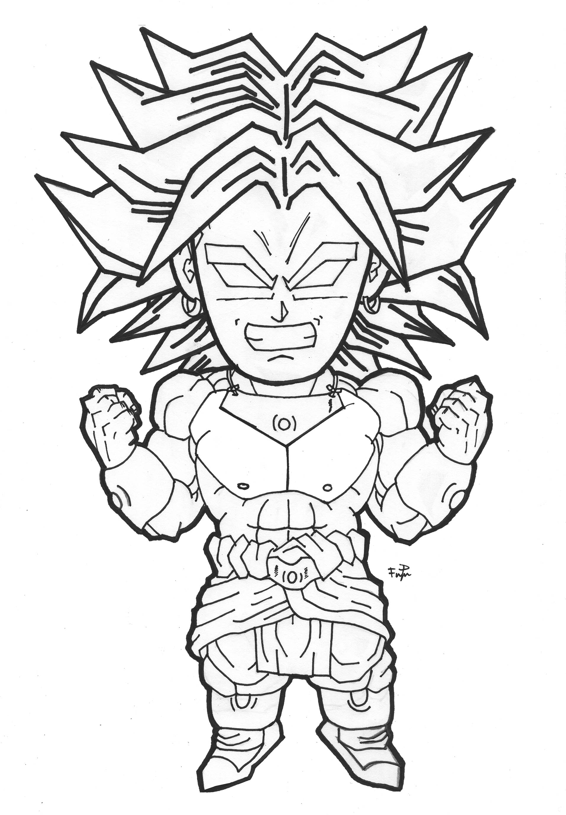 Broly Super Saiyajin Dragon Ball Z Kids Coloring Pages