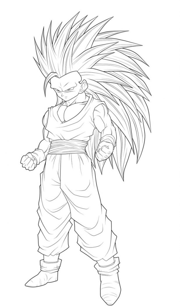 Dragon Ball coloring page to print and color : Character inspired by Dragonball