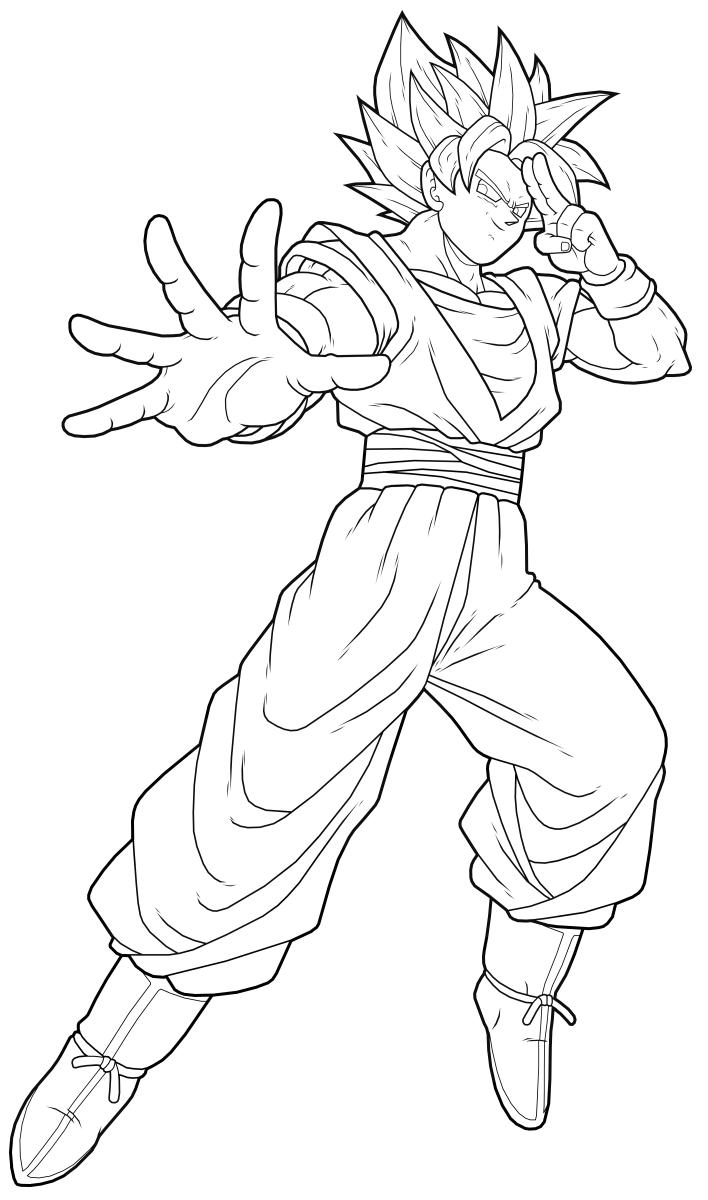 Songoku - Dragon Ball Z Kids Coloring Pages