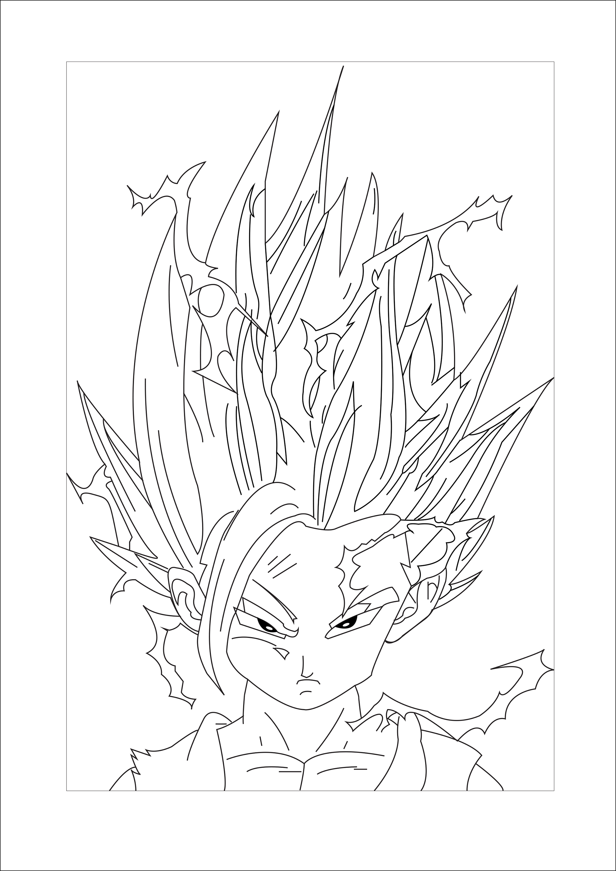 Son gohan Super Saiyajin 2 - Dragon Ball Z Kids Coloring Pages
