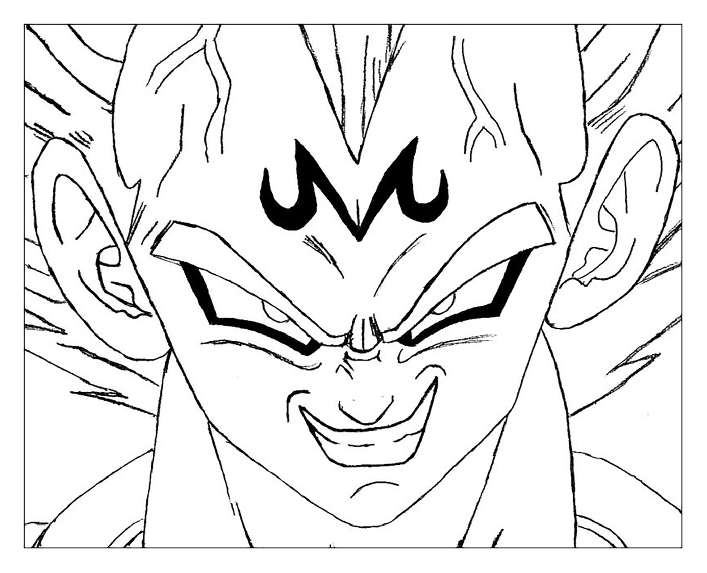Majin Vegeta Dragon Ball Z Kids Coloring Pages