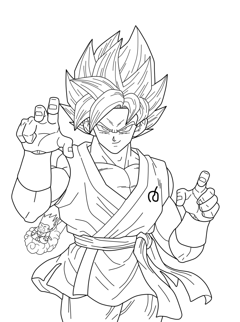 Songoku Super Saiyajin Blue Dragon Ball Z Kids Coloring Pages