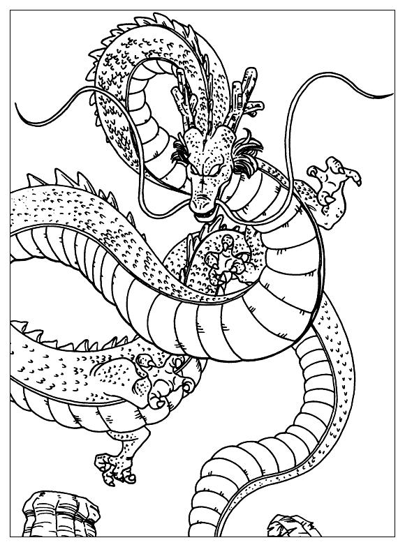 Shenron - Dragon Ball Z Kids Coloring Pages