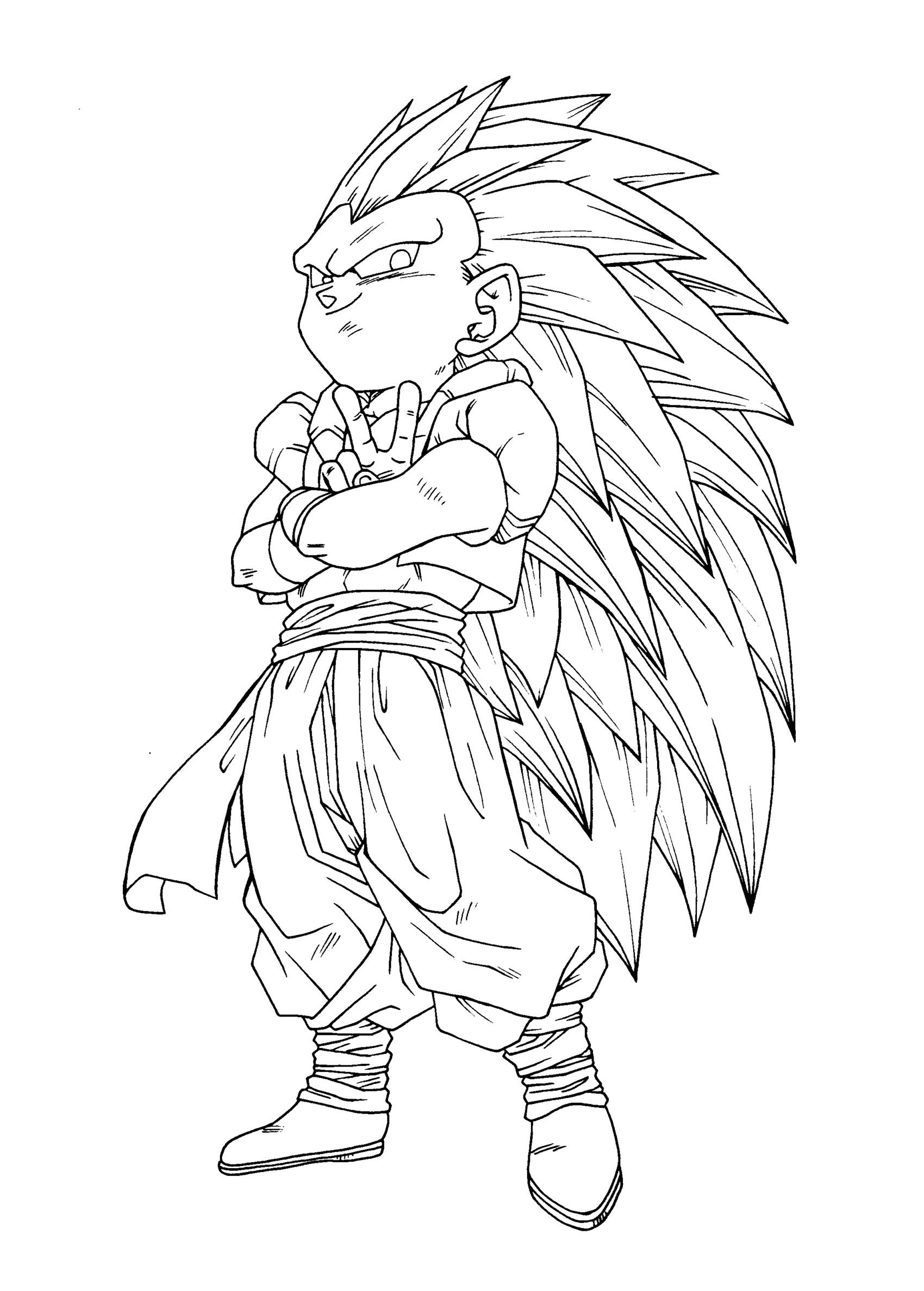 Free Dragon Ball Z Gotenks Coloring Page, Download Free Clip Art ... | 2375x1700