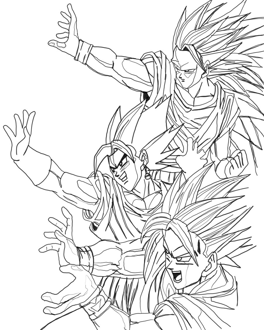 Dragon Ball Z - Free printable Coloring pages for kids | 1125x900