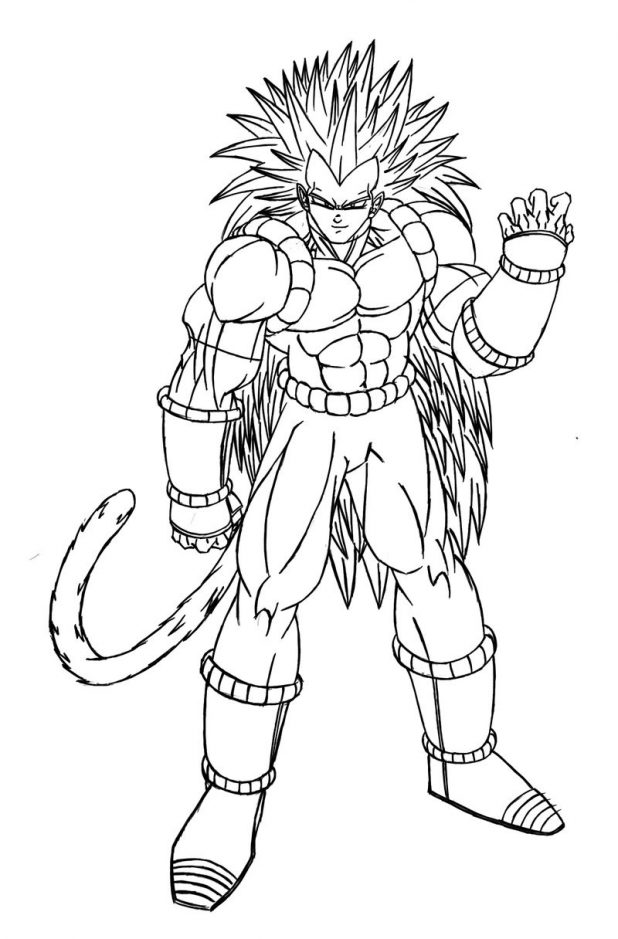 Simple Dragon Ball coloring page for kids : Character inspired by Dragonball
