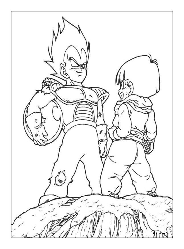 Vegeta And Son Gohan Dragon Ball Z Kids Coloring Pages