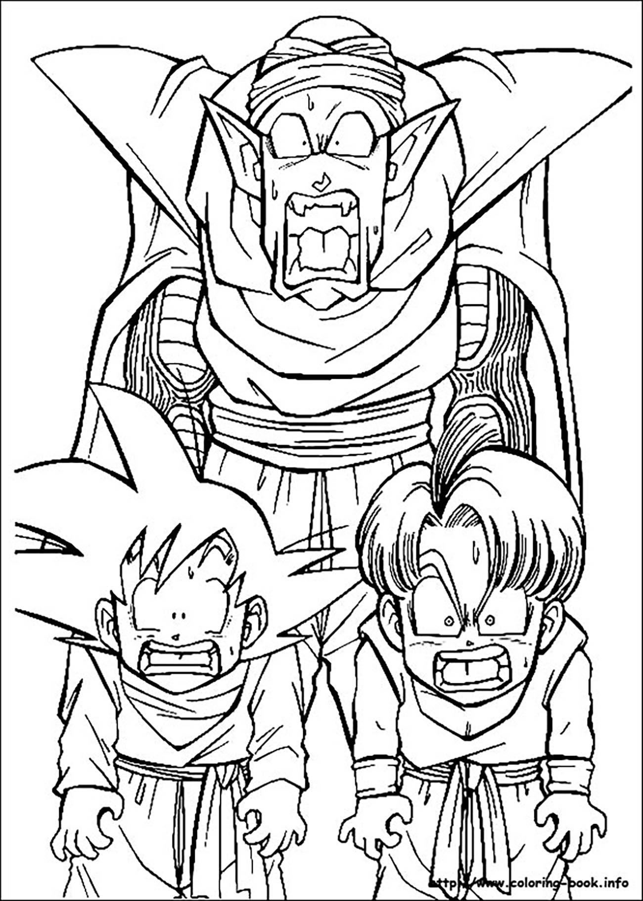 Piccolo , Songoten and Trunks - Dragon Ball Z Kids ...