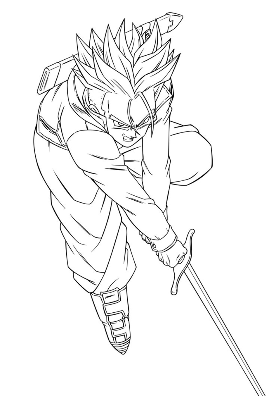 Dragon Ball Z Goten Coloring Pages - Dragon Ball Coloring Pages ... | 1354x945