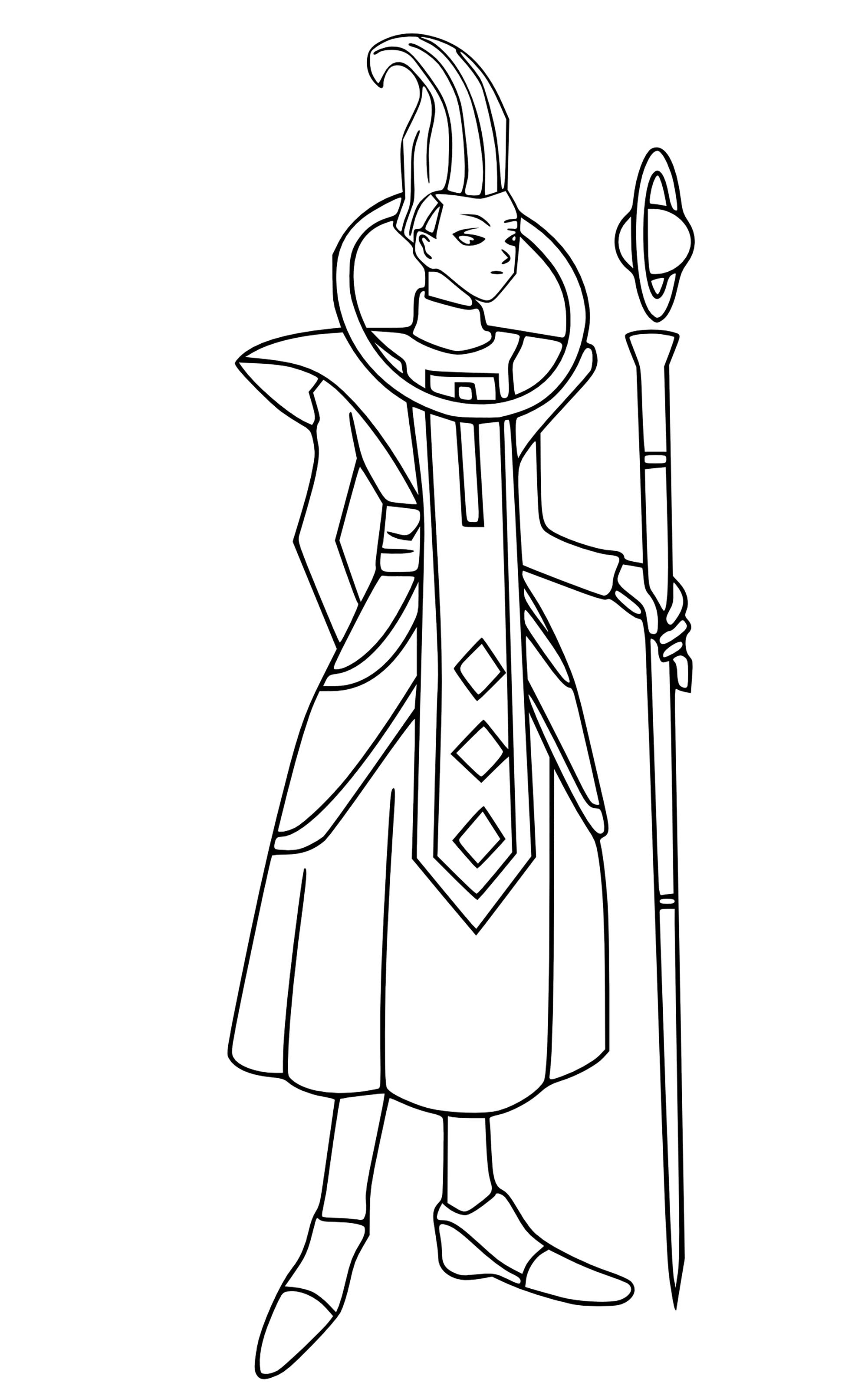 Whis Dragon Ball Z Kids Coloring Pages