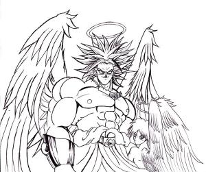 Broly Super Saiyajin angel