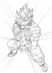 Dragon Ball Z Free Printable Coloring Pages For Kids Page 2