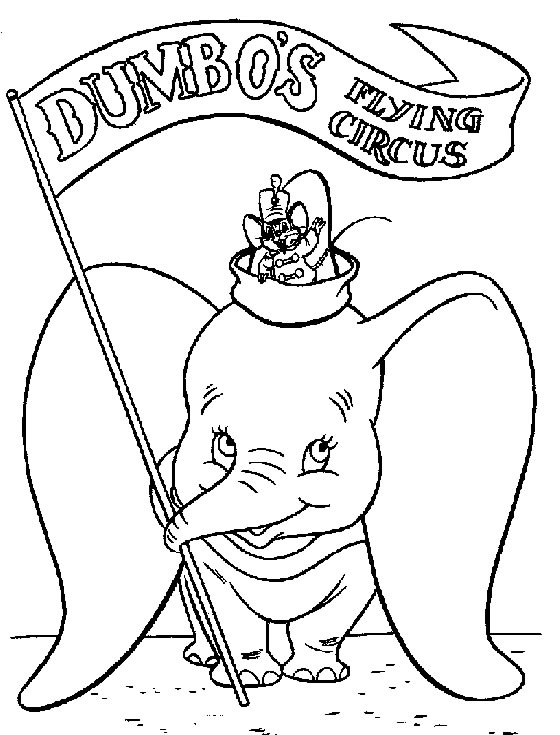 Dumbo free to color for children - Dumbo - Free printable Coloring ...