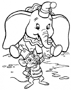 Coloring page dumbo to color for kids