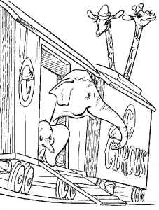 Coloring page dumbo to print for free