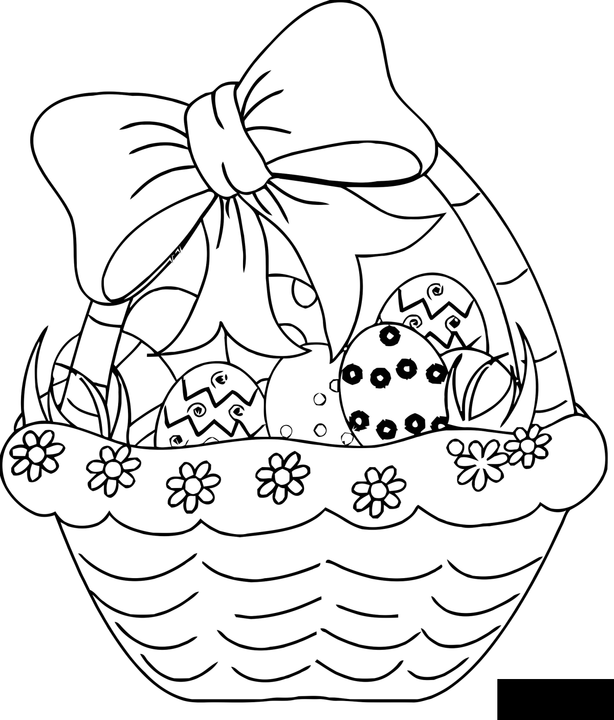 Simple Easter coloring page