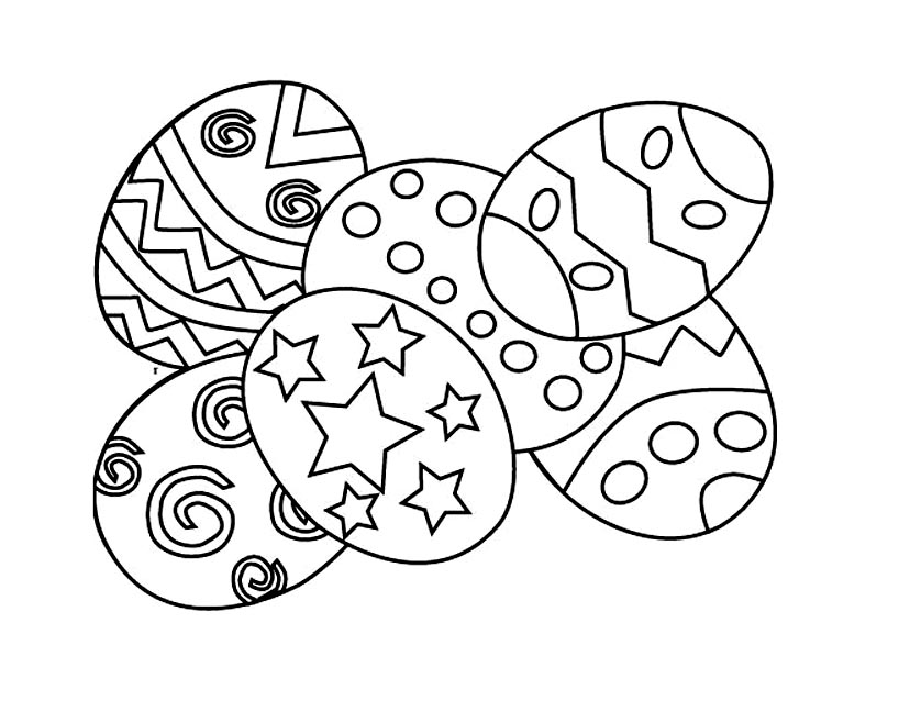 Easter coloring page to download