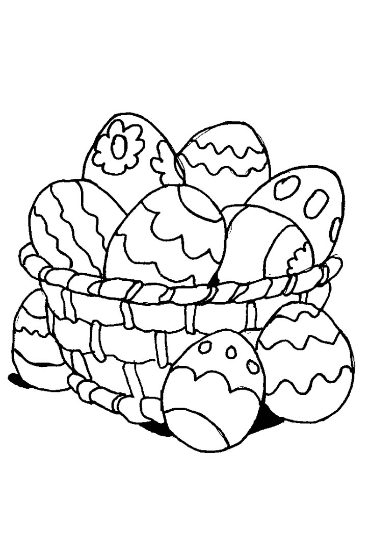 Funny Easter coloring page