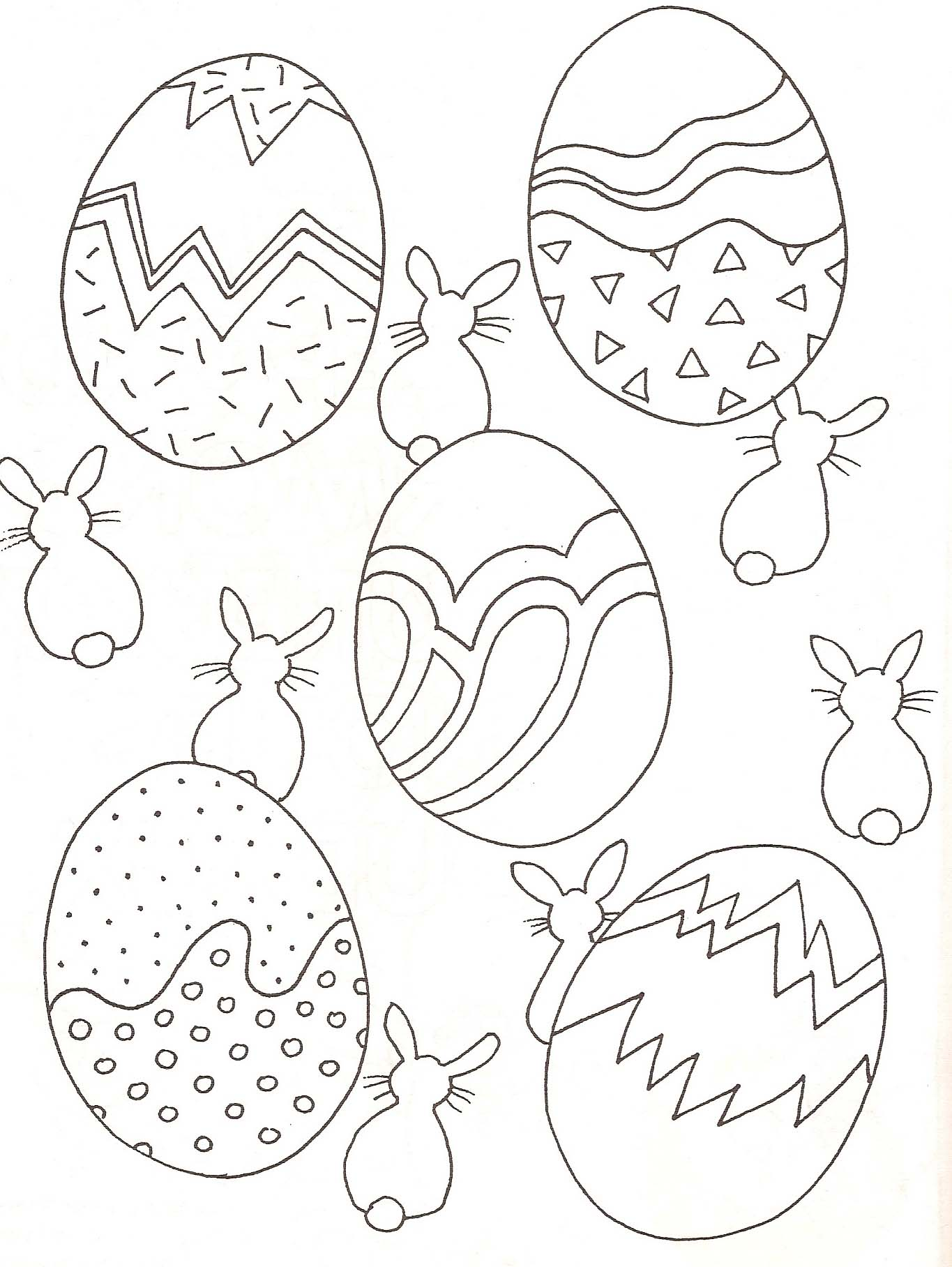 Easter to print for free - Easter Kids Coloring Pages