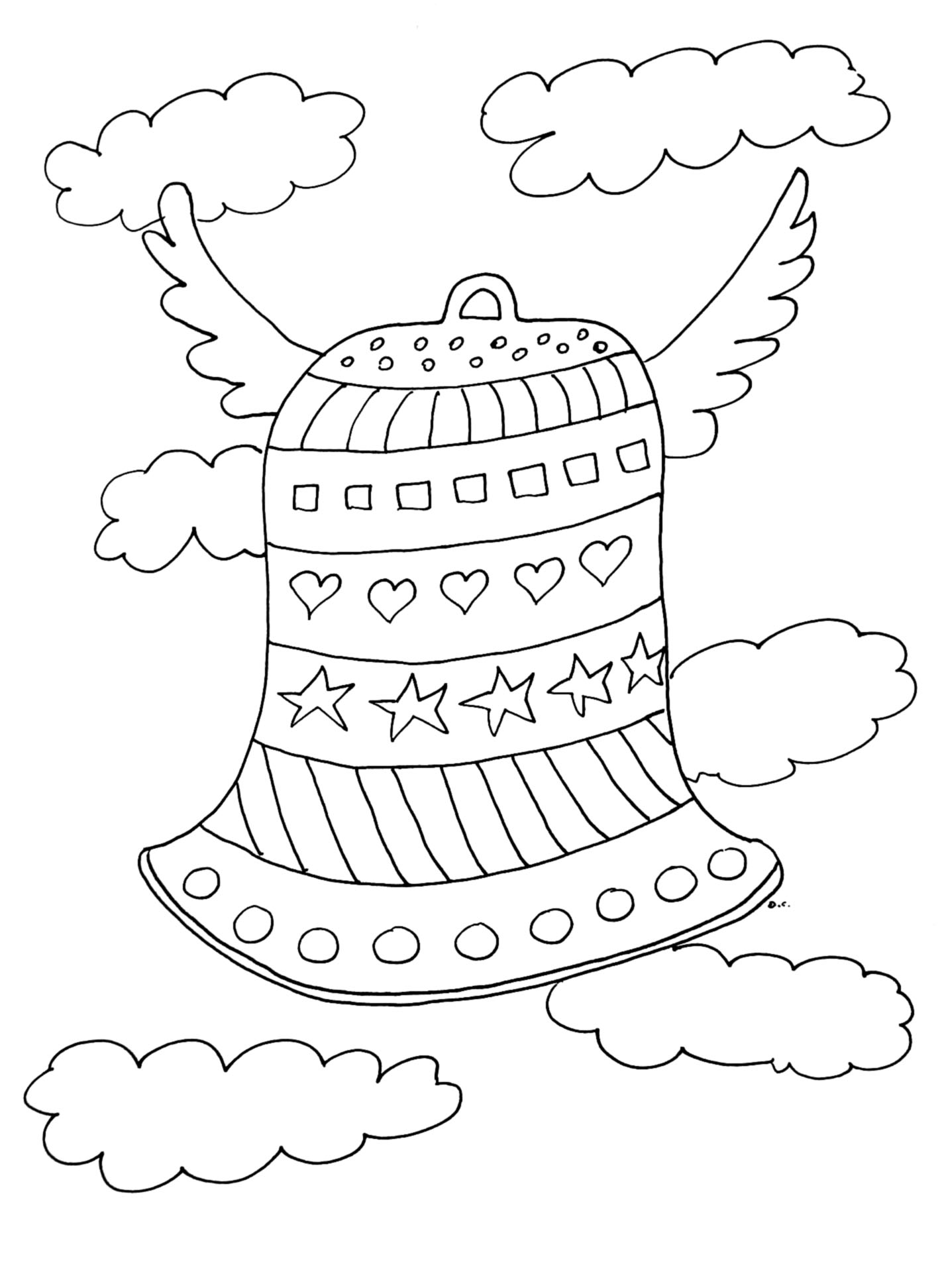 Funny Easter coloring page for kids
