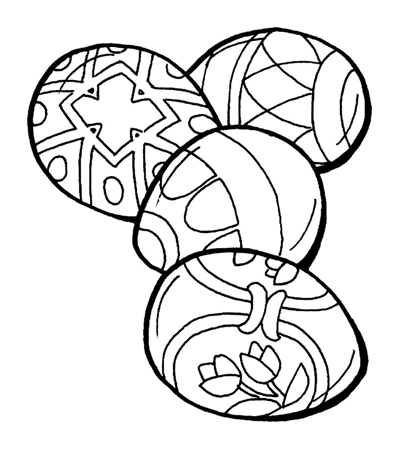 Cute free Easter coloring page to download