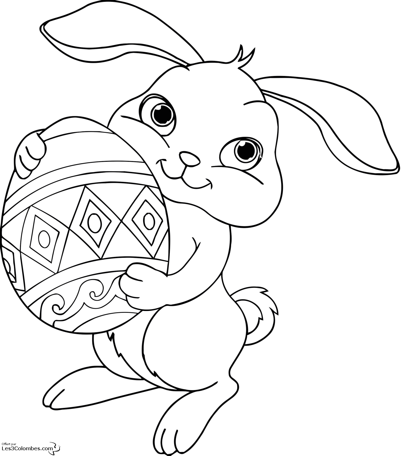 Easter Coloring Pages | 1500x1323