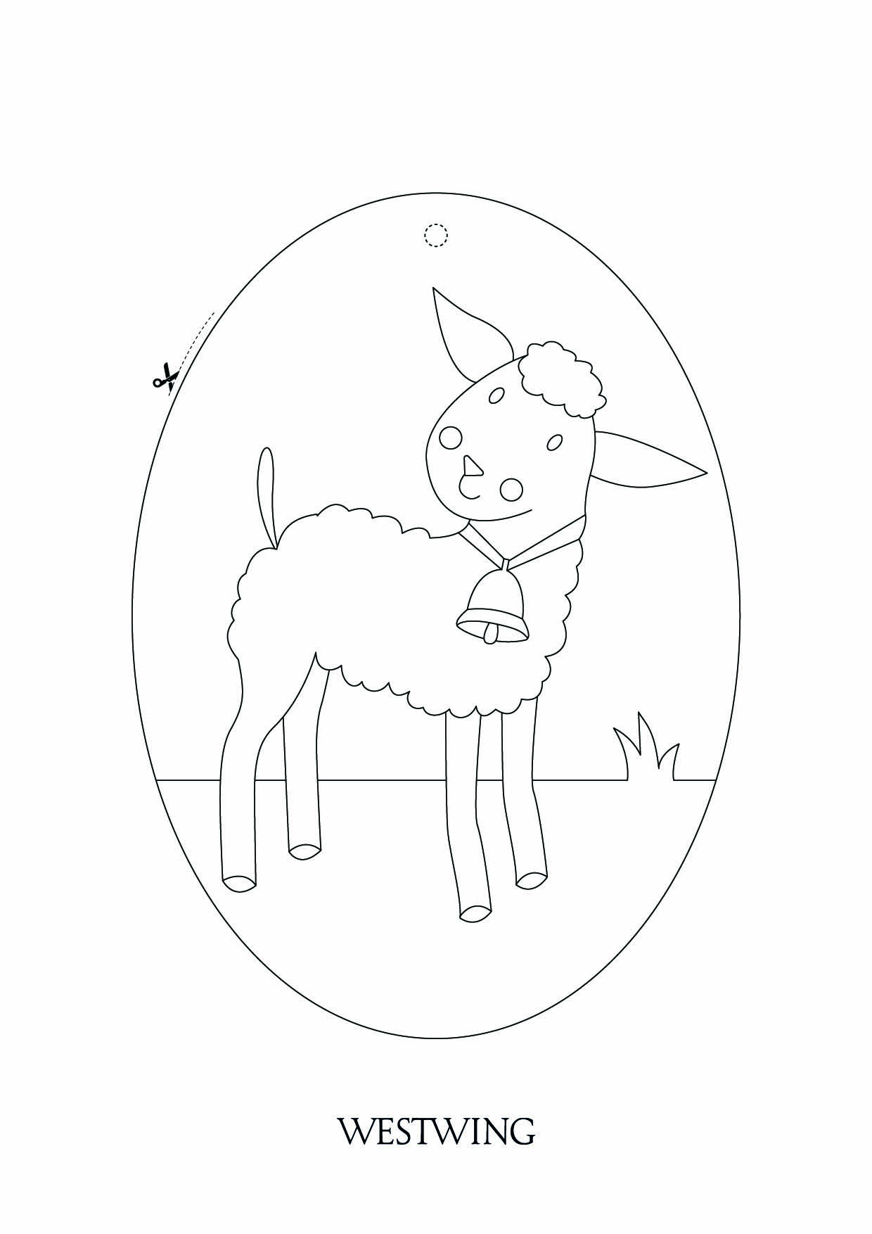 Simple free Easter coloring page to print and color