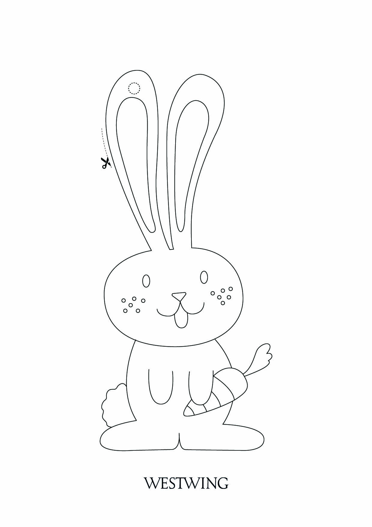 Easy free Easter coloring page to download
