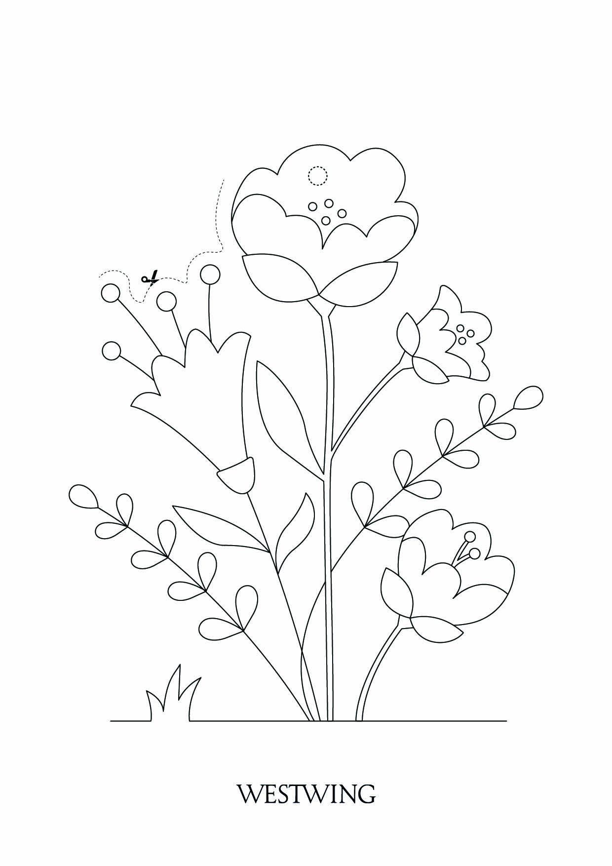 Beautiful Easter coloring page to print and color