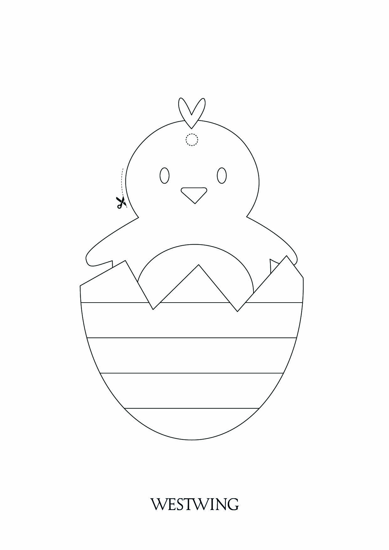 Free Easter coloring page to download