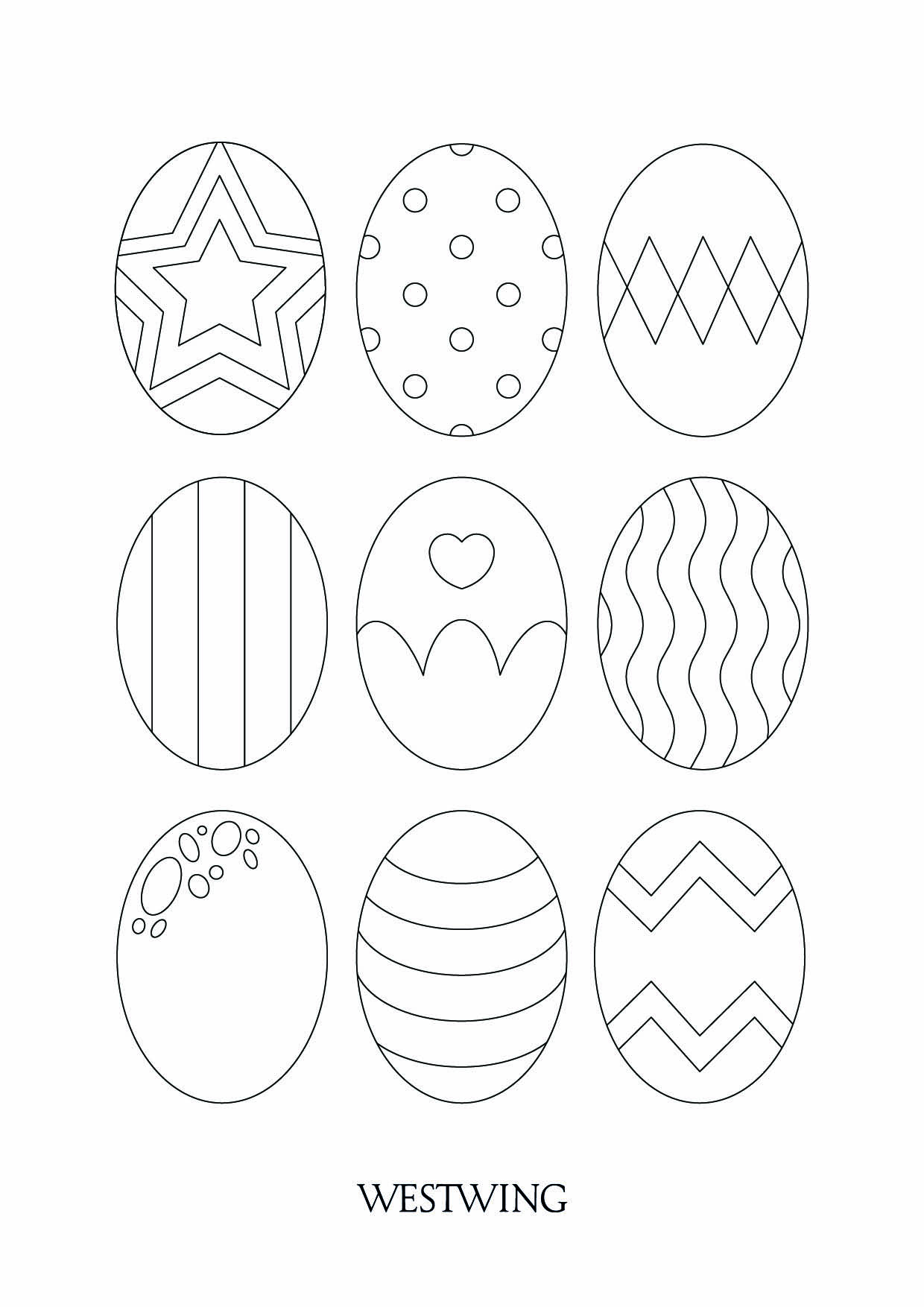 Printable Easter coloring page to print and color