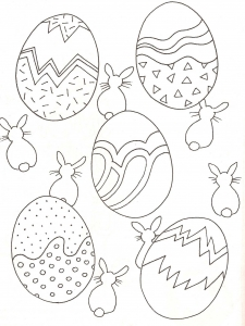 Coloring page easter to print for free