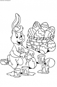 Coloring page easter to download for free