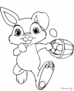 Coloring page easter for children