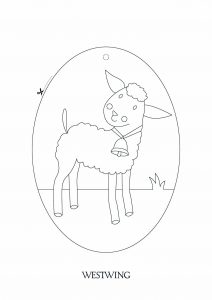 Coloring page easter to color for children