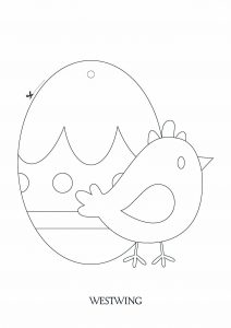 Coloring page easter for kids