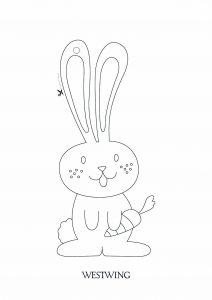 Coloring page easter to color for kids
