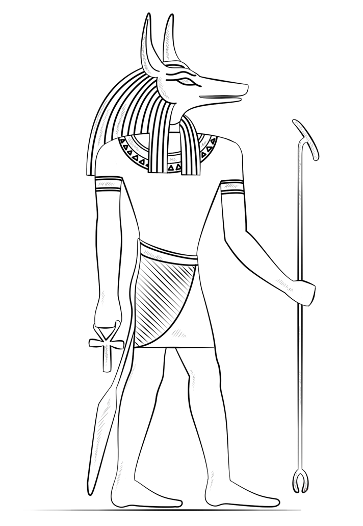 Egypt coloring page to download