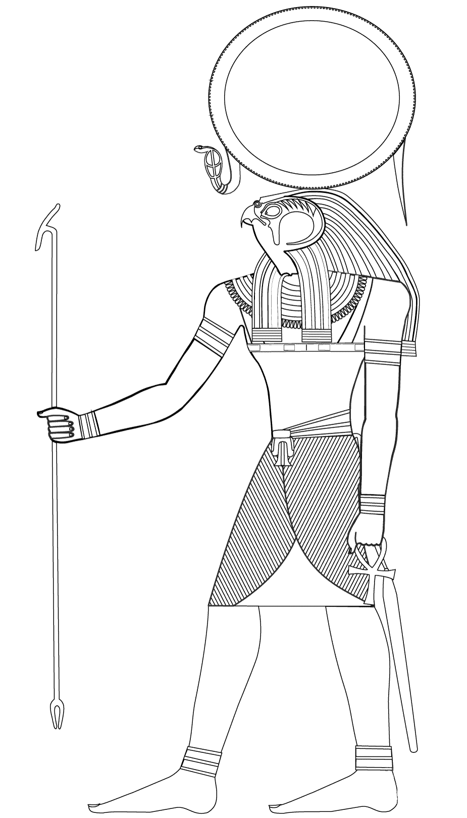 Simple Egypt coloring page to download for free