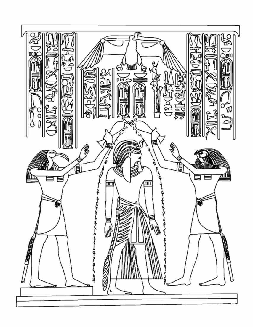 Egypt Coloring Page - Free Flags Coloring Pages : ColoringPages101.com | 1104x854