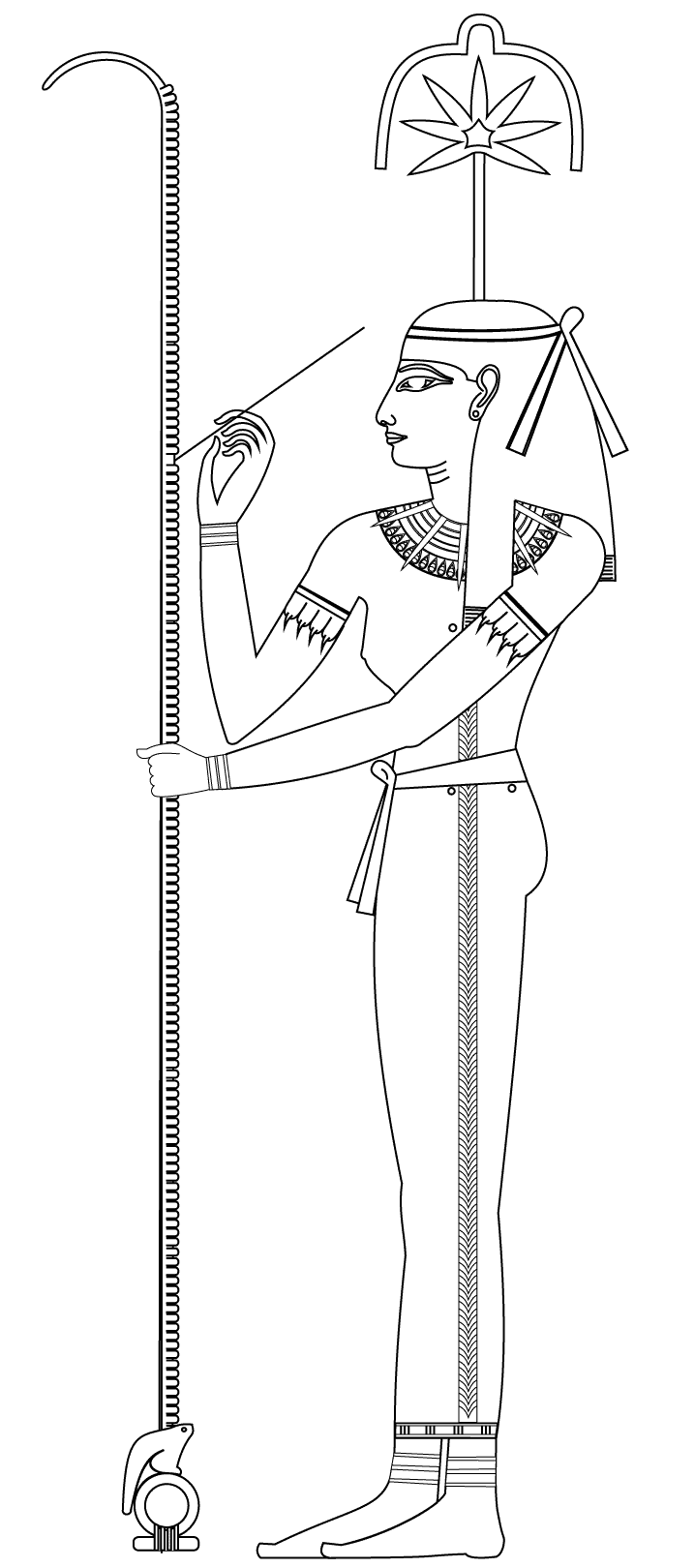 Egypt coloring page with few details for kids