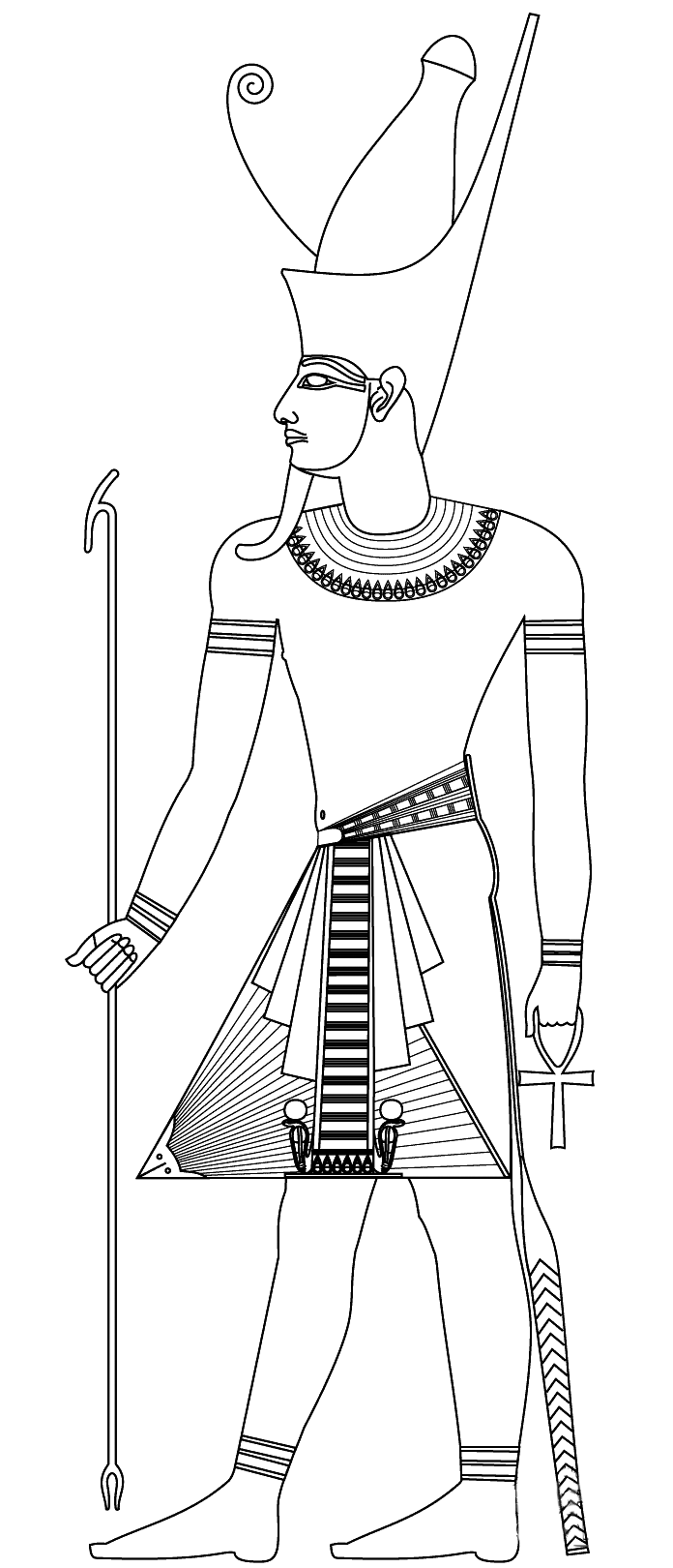 Egypt free to color for kids - Egypt Kids Coloring Pages